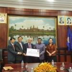 세계태권도연맹-아시아발전재단, 캄보디아에 발전기금 등 전달