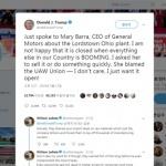트럼프, GM 공장폐쇄에 주말 트윗 '3연타'…CEO와도 통화