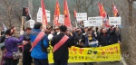 홍천 남면 용수리 돈사 신축 반대 시위