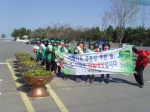 주문진읍 새마을부녀회 봄꽃심기