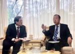 반기문 전 총장-노영민 비서실장 미세먼지 대응 논의