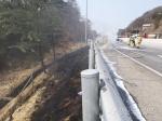 원주 인근 중앙고속도로에서 벤츠 화재