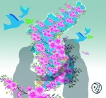 한반도의 봄 진달래꽃