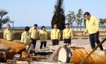 도의회 농림수산위 동해 산불피해지 점검