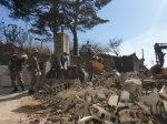 속초 피해지역 주택 등 잔해물 철거 돌입