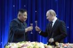 건배하는 김정은 위원장-푸틴 대통령