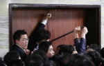 '빠루'·망치 등장한 국회…민주·한국 '빠루 공방'