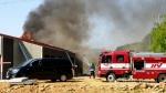 인제 주택공사장 화재…화재진화중