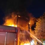 강릉과학단지 수소탱크 폭발사고 인근 기계제조공장 화재