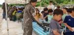 신철원초교 제3보병사단 전차대대 방문