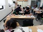 영월 단비청소년봉사단 부채제작