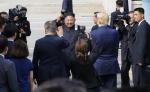 북으로 향하는 김정은 국무위원장