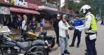 홍천경찰서 오토바이 안전운행 캠페인
