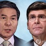 오늘 한미 국방장관회담…방위비 분담금·지소미아 논의 주목