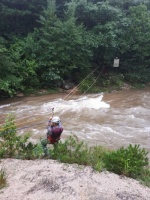 고성서 폭우로 고립된 주민 2명 긴급구조