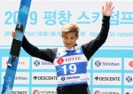 최서우, 한여름의 스키점프 평창 FIS컵 준우승