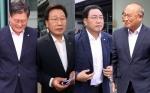 항소심 선고 출석한 강원 지자체장들