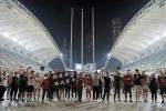 홍콩 축구팬, 월드컵 예선 경기장서 시위