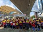 춘천 소상공인 150여명, 노브랜드 반대 규탄 시위 나서