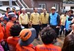 삼척 태풍 피해지 응급복구작업 마무리