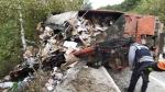 철원서 5t 트럭 넘어져 가드레일 충격…20대 운전자 숨져
