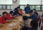 정선 사북로타리클럽 점심 대접