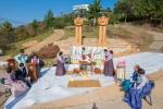 평화통일기원 장승제막·혼례식