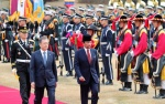 의장대 사열하는 문 대통령과 브루나이 국왕