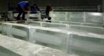 얼음조각 광장 준비 분주