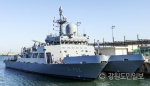 해군 1함대 동해 군항에 다목적 훈련지원정 배치
