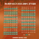 강원FC, 내달 29일 대구서 새 시즌 돌입