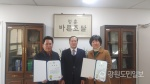 강원조달청, 원주 애니우드·춘천 홀리우드 표창장 수여