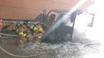 돌산령 터널 입구 차량 화재 발생