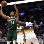 NBA 아데토쿤보 '슈퍼루키' 윌리엄슨과 첫 대결서 승리