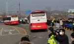 '2차 귀국' 우한 교민 334명 아산 경찰인재개발원서 퇴소