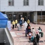 격리시설 입소하는 중국인 유학생