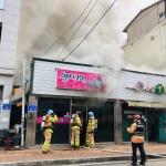 신철원시장인근 유성꽃집건물서 화재 발생