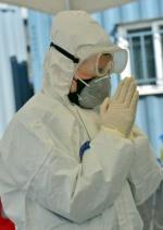 코로나19 종결 기원하는 의료진