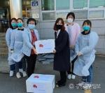 삼척시청소년상담복지센터 코로나 의료진에 간식 전달