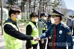 김재규 강원경찰청창, 평창 교민 임시생활시설 방문