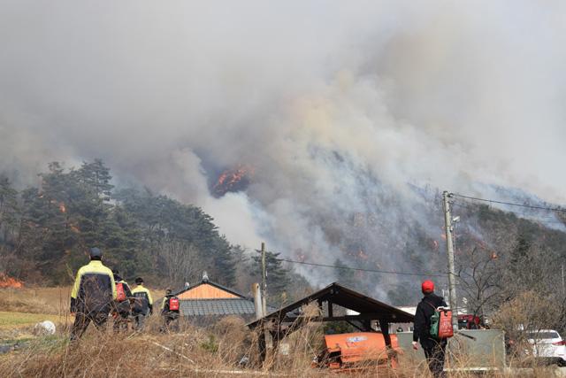 강릉 건조특보 속 대형 산불 발생