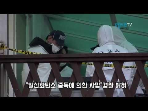 강릉 펜션 참사 사인 일산화탄소 중독