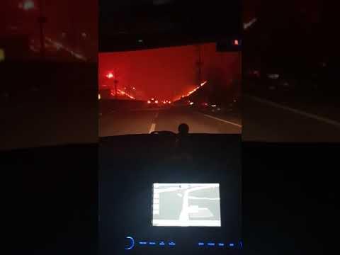 불타고 있는 속초