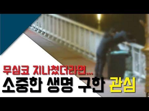 소중한 생명 살린 '관심'…소양2교 CCTV 포착 영상