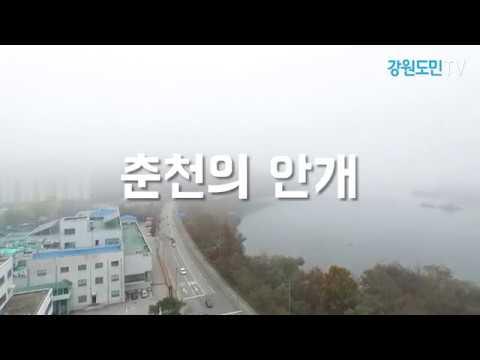 """춘천 안개 극심 """"교통안전 유의하세요"""""""