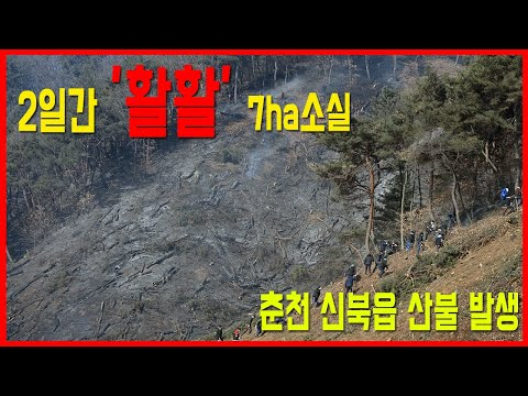 춘천 신북 산불 '이틀간 활활' 7ha 소실 후 진화