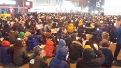 박근혜 즉각퇴진 강원시국대회