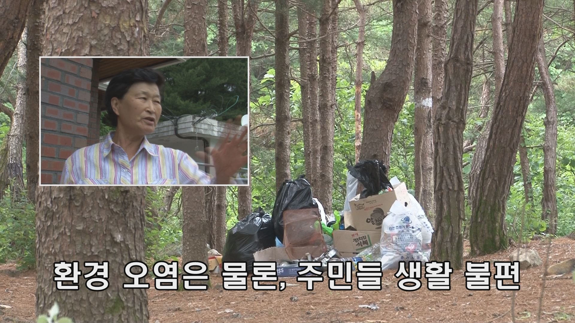 피서지 쓰레기 '몸살'
